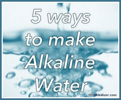 How to Drink Alkaline Water Normal drinking
